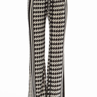 Houndstooth Stripe Palazzo Pants