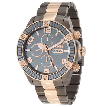 Invicta 10612 Men's Reserve Pro Diver Grey Dial Two Tone Stainless Steel Chronograph Automatic Dive Watch