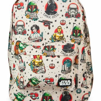 Star Wars Tattoo Flash Print Backpack by Loungefly