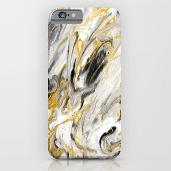 Black and Gold Marble iPhone & iPod Case by Jacqueline Maldonado
