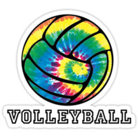 Tie Dyed Volleyball