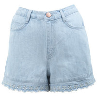 High Waist Scallop Hem Short - View All  - New In
