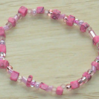 Bracelet in Shades of Pink