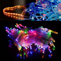 10M 100 LED Colorful Lights Decorative Christmas Party Festival Twinkle String Lamp Bulb 110V US FT = 1946303236