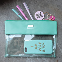 peekaboo clutch - summer mint + mint