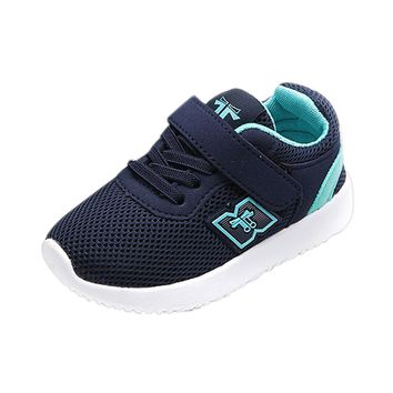Kid's Lace & Strapped Breathable Tennis Shoes