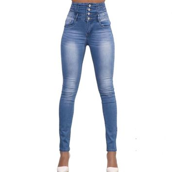 Jeans for women Jeans With High Waist Jeans Woman High Elastic Women Jeans femme washed casual skinny pencil pants