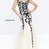 Short Sleeved Gown by Sherri Hill