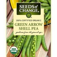Seeds of Change Certified Organic Pea, Green Arrow - 14 grams, 50 Seeds Pack