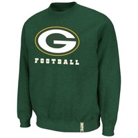 Green Bay Packers Classic Heavyweight V Sweatshirt - Green