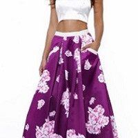 Two Pieces Prom Dress