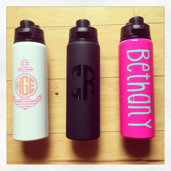 Personalized 28oz Aluminum Water Bottle {black matte}