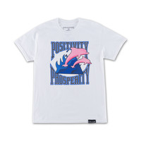 Pos Pro Waves Tee in White – Pink+Dolphin