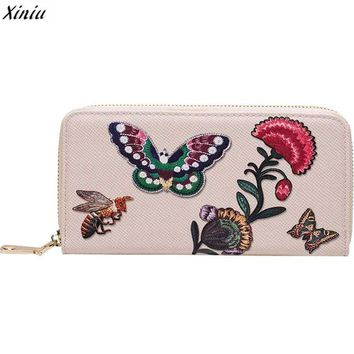 2017 Floral Animal Print Long Women Wallet Pu Leather Card Holder Retro Female Purse Bag Lady Clutch Phone Purse carteira female