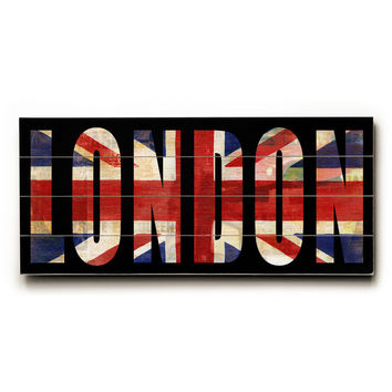 London by Artist Cory Steffen Wood Sign