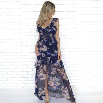 Awaken My Love Floral Maxi Dress