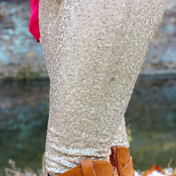 Rosebud Sequin Leggings