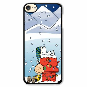 Charlie And Snoopy Brown Christmas iPod Touch 6 Case