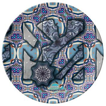 Living Metal No 2 by Alexandra Cook aka Linandara Dinner Plate