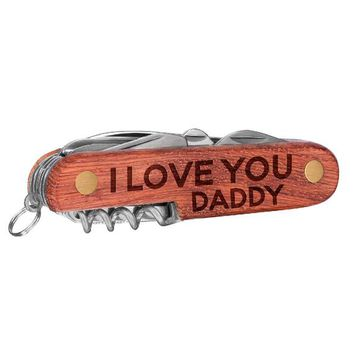 Personalized I Love You Daddy Father's Day Multi Tool Knives, Custom Engraved Pocket Knife for Dad, Dad's Day Gift, Laser Engraved