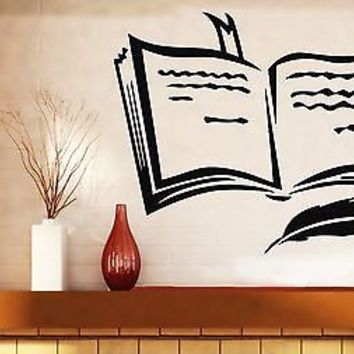 Wall Sticker Vinyl Decal Book Pen Poetry Prose Training Bookmark (n290)
