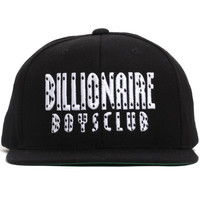 Stacked Logo Starter Snapback Hat Black