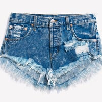 Lovers Acid Babe Distressed Cut Off Shorts