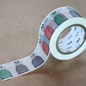 Funny Mimi Cat Tape, Lisa Larson - Japanese Washi Paper Masking Tape - Animal Tape,  Art Supply, Kawaii Deco Collage, Gift Wrapping Sticker