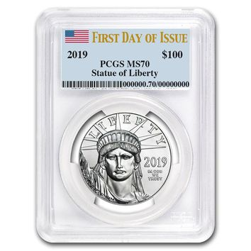 2019 1 oz Platinum American Eagle MS-70 PCGS (First Day of Issue)