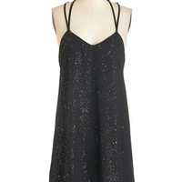 ModCloth Mid-length Spaghetti Straps Shift Ravishing Out Loud Dress