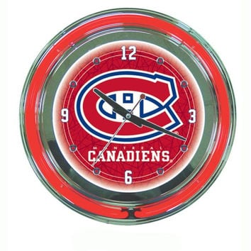 NHL Montreal Canadiens Neon Clock - 14 inch Diameter