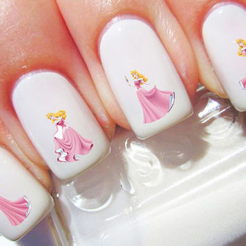 Sleeping Beauty Princess Aurora Disney Nail Decals
