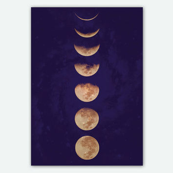 18x25 inches Moon Phases poster