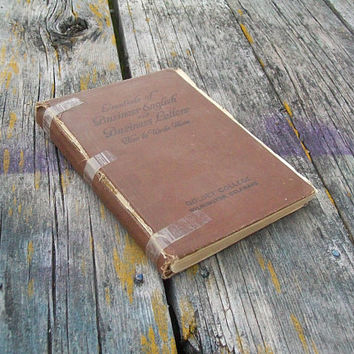 Antique Book Essentials of Business English and Business Letters How to Write Them 1916 Paper Ephemera