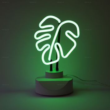 Leaf Neon Table Top Sign