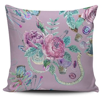 Watercolor Sewing Pillow Cover