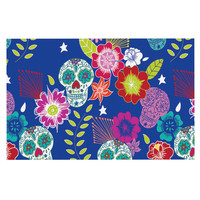 "Anneline Sophia ""Day of the Dead"" Dog Place Mat, 18"" x 13""  - Outlet Item"