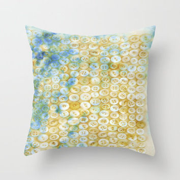 Buttons, digital art Throw Pillow Cover (insert available)  by JUSTART | Society6