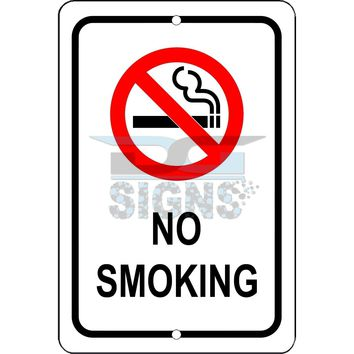 No Smoking - aluminum sign 8x12