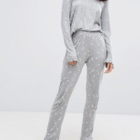 Vero Moda Star & Moon Pajama PANTS at asos.com