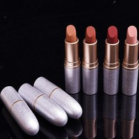 Hot sale New Makeup Free shipping Romantic Cinderella Lipstick New Makeup Nude Shining Lipstick High Quality 12 colors choose