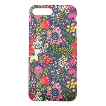 Vintage Bright Floral Pattern iPhone 7 Plus Case