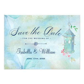Elegant Floral Boho Wedding Save the Date Card