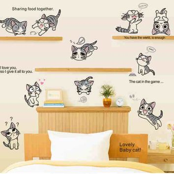 MY cute little pvc poni paws animals patroled wall sticker birthday Christmas gift poni in children bed room Kindergarten