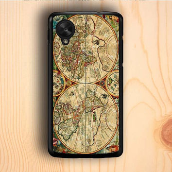 Dream colorful Vintage Old Retro World Map Nexus 5 Case