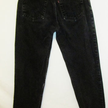 Vintage 1990's Black Levi 550 Relaxed Fit Jeans