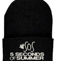 5 Seconds of Summer Beanie SOS Knit Hat Ashton Irwin
