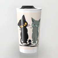 Black and gray Travel Mug by BATKEI