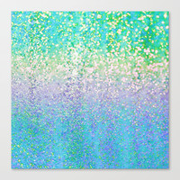 Summer Rain Revival Stretched Canvas by Lisa Argyropoulos