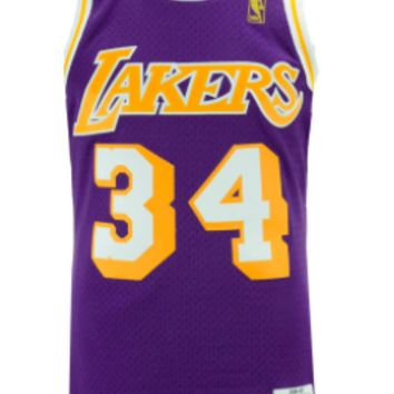 Los Angeles Lakers 1996-97 Shaquille O'Neal Mitchell & Ness NBA Swingman Jersey